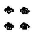web cloud simple related icons vector image vector image