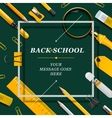 Welcome Back to school template with schools vector image vector image