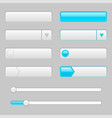 white web interface buttons with blue tags vector image vector image