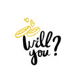 will you calligraphy postcard poster graphic vector image vector image