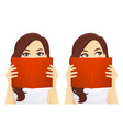 woman with book vector image