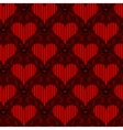 red striped heart seamless background vector image