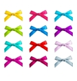 ribbon bows vector image