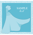 Bride gown Wedding theme background vector image
