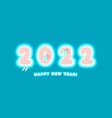 2022 happy new year card paradise island numbers vector image