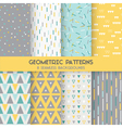 8 Seamless Geometric Patterns vector image