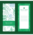 abstract blue and green leaves vertical vector image vector image