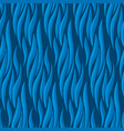 abstract wave blue seamless pattern vector image vector image
