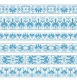 antique borders in blue color on white vector image