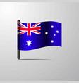 australia waving shiny flag design vector image