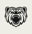 bear logo design icon vector image vector image