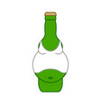 beer belly in bottle isolated alcohol vector image vector image