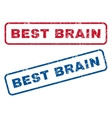 Best Brain Rubber Stamps vector image vector image