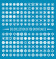 big collection snowflakes vector image vector image