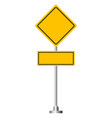 blank yellow road sign 1 vector image