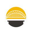 bridge logo design vector image vector image