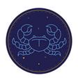 cancer astrological sign horoscope symbol vector image