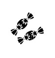 candies black icon sign on isolated vector image