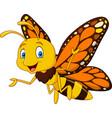 cartoon happy butterfly vector image vector image