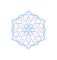 Christmas Decoration Snowflake Isolated vector image
