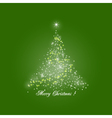 Christmas Tree of Lights on Green Background vector image vector image