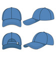 color with a blue baseball cap vector image vector image