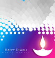colorful diwali background vector image vector image