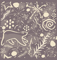 cute hand drawn winter pattern seamless pattern vector image vector image