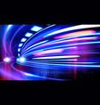 cyberpunk light trails effect vector image vector image