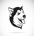 Dog siberian husky vector image vector image