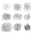 drawn tangles lines circles doodle sketch vector image vector image
