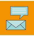 email message chat concept design vector image vector image