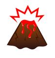 Erupting volcano vector image