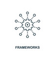 frameworks outline icon thin line style from big vector image vector image