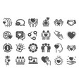 friendship and love icons interaction mutual vector image vector image