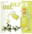 Glass bottle of premium virgin olive oil vector image vector image
