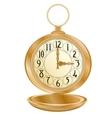 Golden pocket watch vector image vector image