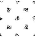 great dane dog pattern seamless black vector image vector image