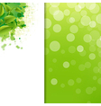 Green Eco Background With Blur And Blob vector image vector image
