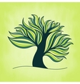 Green fresh colorful tree with branches and leaves vector image vector image