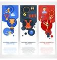 Gymnastics Banners Flat vector image