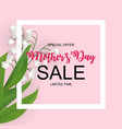 happy mothers day cute sale background with vector image