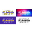 information flat line concept for web banner and vector image vector image