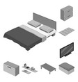 isolated object of bedroom and room icon vector image vector image