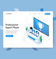 landing page template professional esport vector image vector image