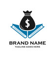 logo design learn to save money vector image
