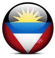 Map on flag button of Antigua and Barbuda vector image