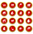 monkey types icon red circle set vector image vector image