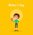 mothers day poster with cute kid vector image