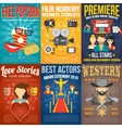 Movie Poster Set vector image